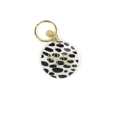 Moon and Lola - Patterned Block Keychain