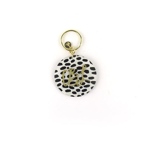 Moon and Lola - Patterned Script Keychain