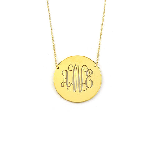 "Sample ""AWE"" Disc Necklace"