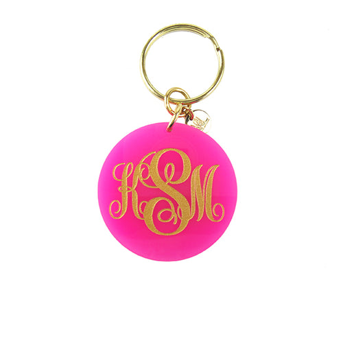 Moon and Lola - Hot Pink Providence Keychain