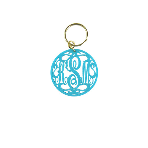 Moon and Lola - Rimmed Script Keychain