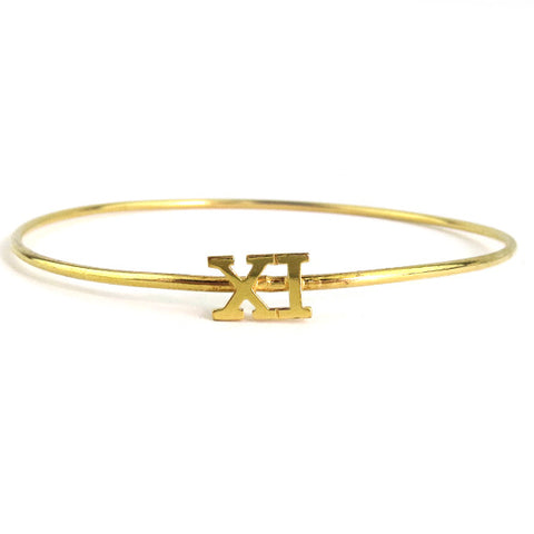 "Sample ""KSM"" Palais Cheshire Hand-cut Monogram Ring"