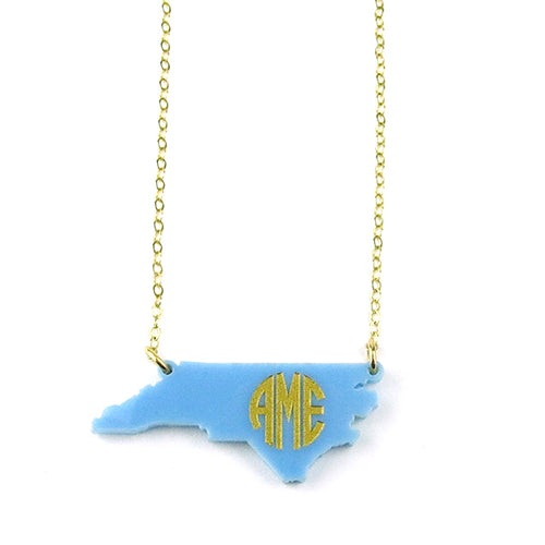 Moon and Lola - Sample State Monogram Necklace