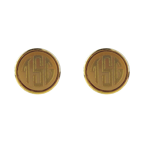 "Sample ""TSG"" Vineyard Round Post Earring, Block"