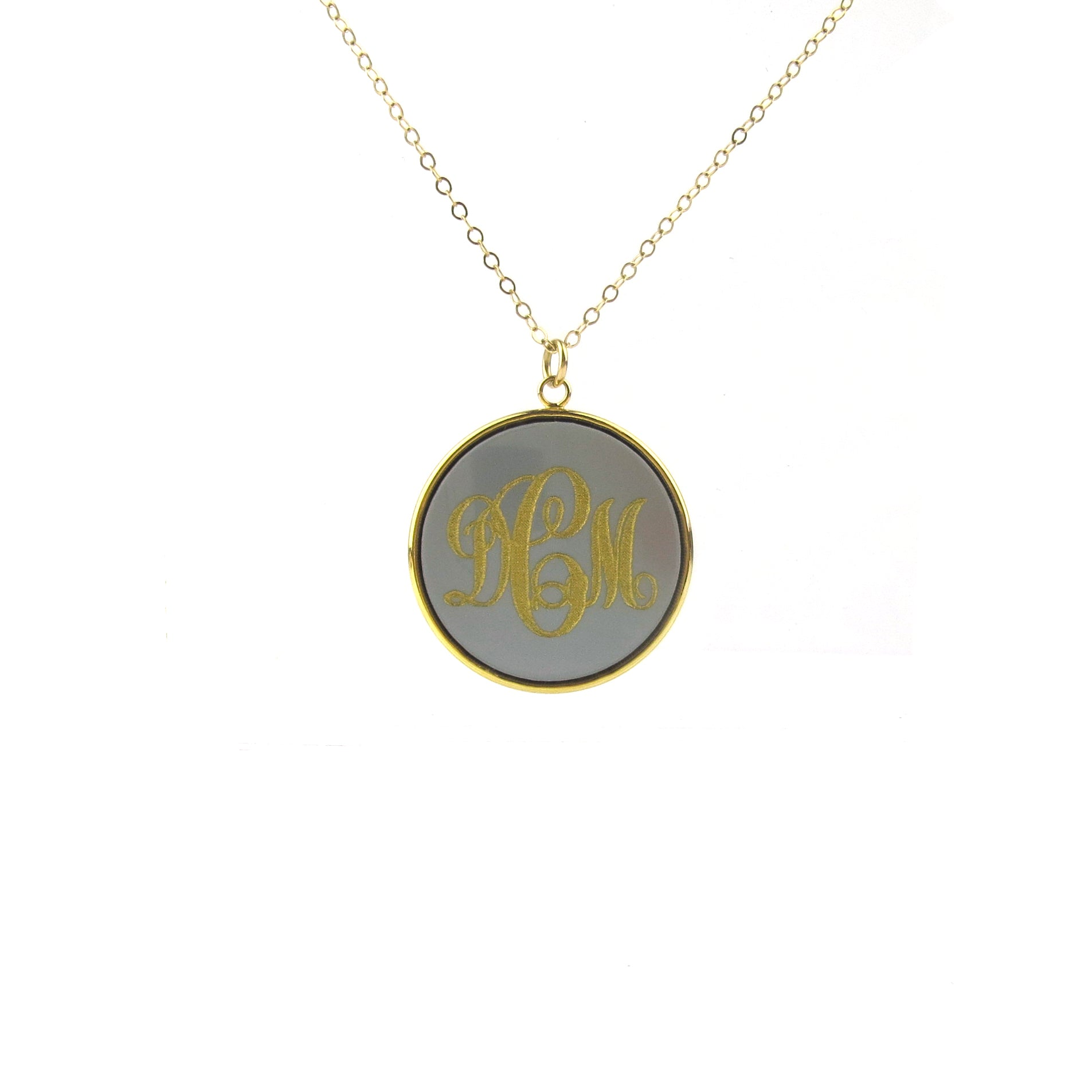 "Sample ""DCM"" Vineyard Monogram Necklace"