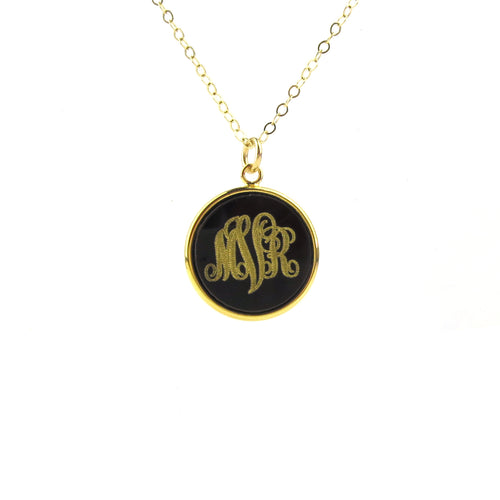 "Sample ""MVR"" Vineyard Round Monogram Necklace"