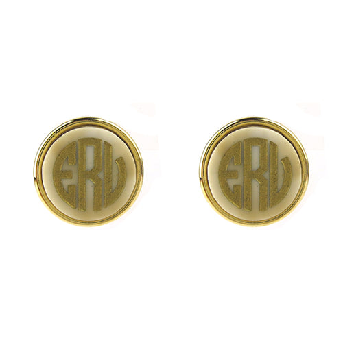 "Sample ""ERV"" Vineyard Round Post Earring, Block"