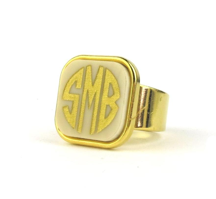 "Sample ""SMB"" Vineyard Square Ring, Block"
