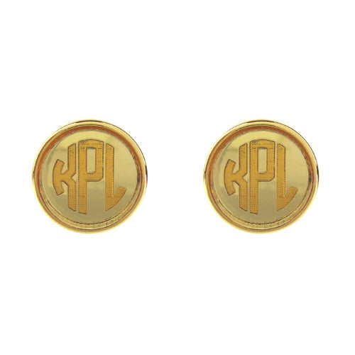 "Sample ""KPL"" Vineyard Round Post Earring, Block"
