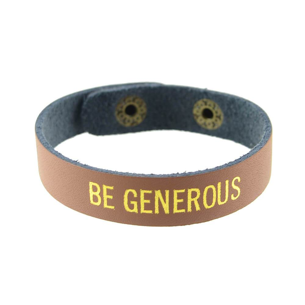 "Moon and Lola xx Generous Coffee - ""Be Generous"" Bracelet"