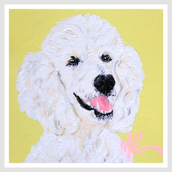 Moon and Lola - Lincoln the Standard Poodle print