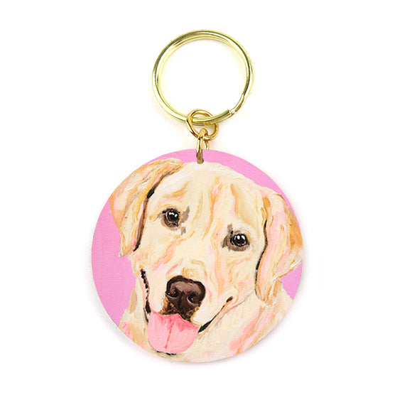 Megan Carn - Buddy The Golden Retriever Acrylic Keychain