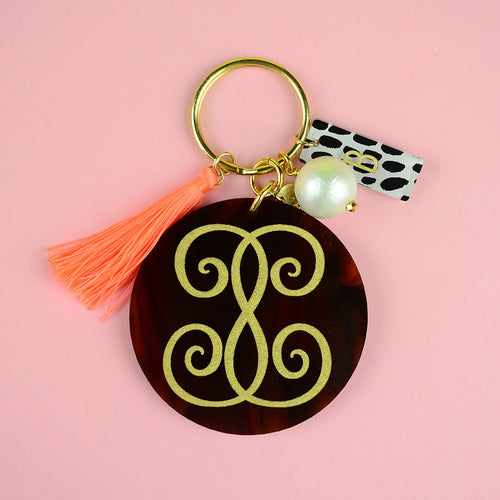 Moon and Lola - Emily McCarthy Keychain with Charms