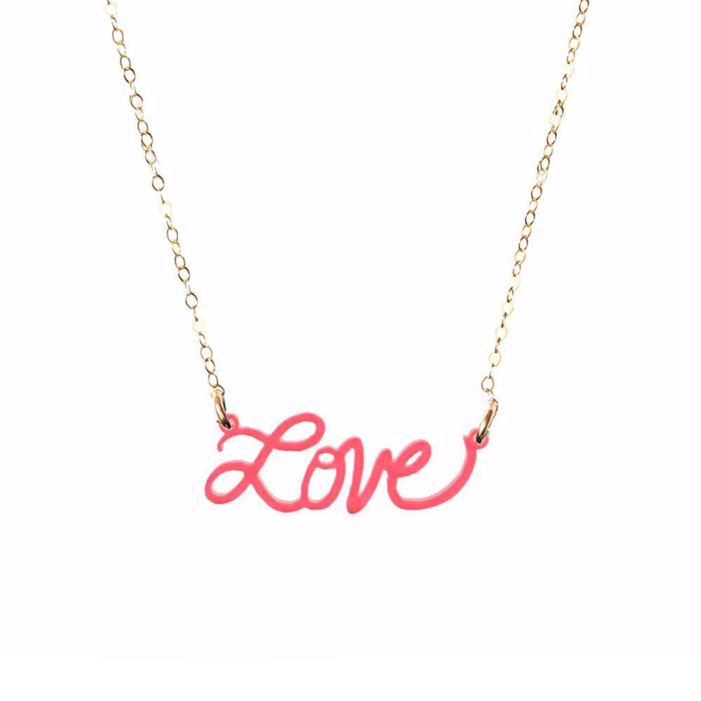 Moon and Lola xx Thimblepress - Love Word Necklace