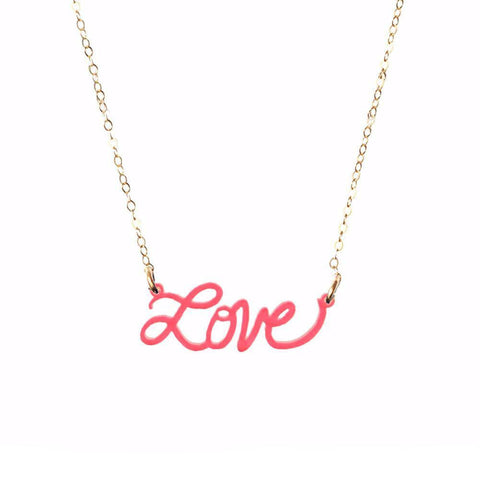 "ML xx TP ""Happy"" Nameplate Necklace"