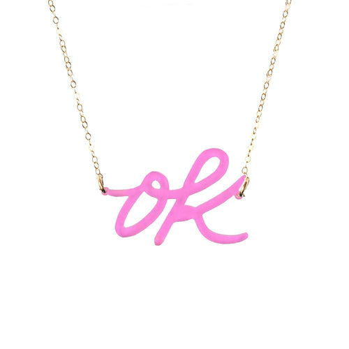 Moon and Lola xx Thimblepress - OK Word Necklace