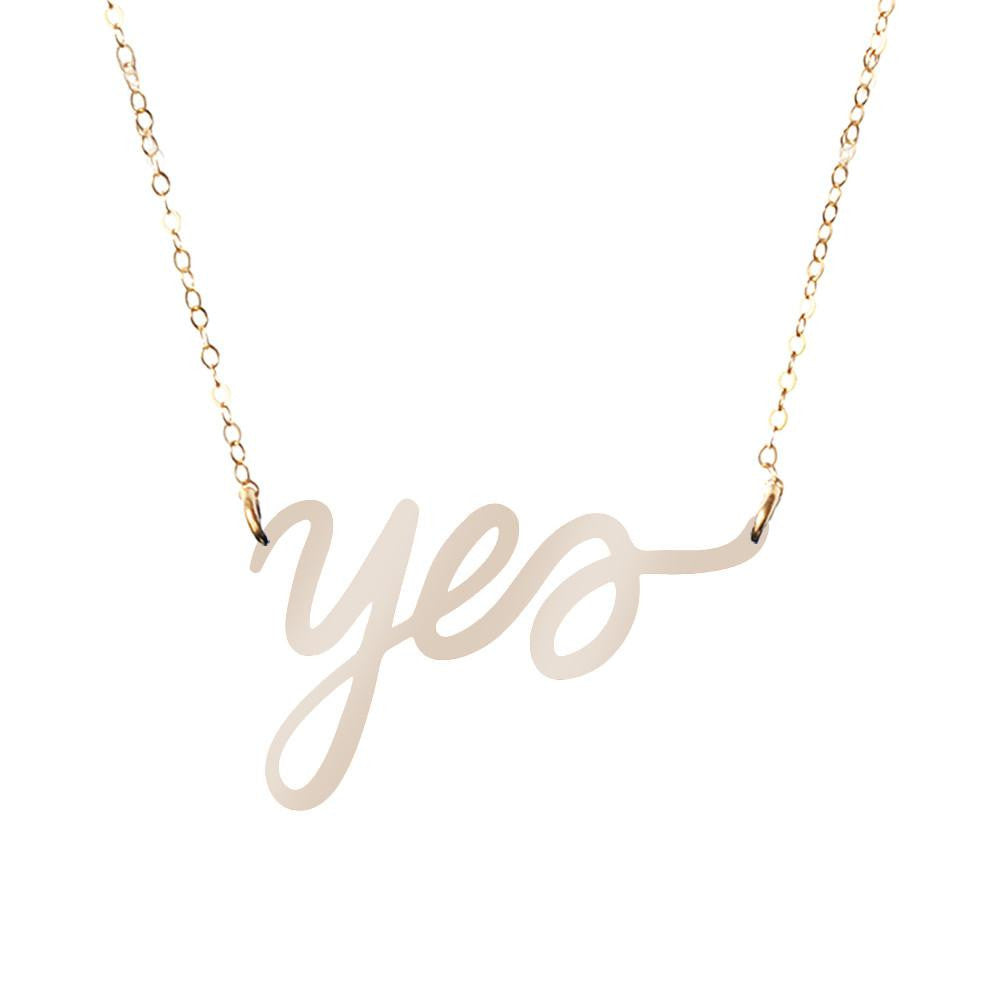 Moon and Lola xx Thimblepress - Yes Word Necklace