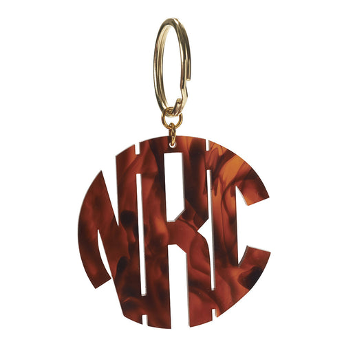 I found this at #moonandlola! - Monogram Key Chain in Block Font