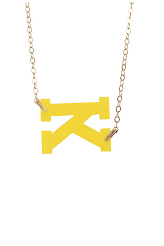 Moon and Lola - Acrylic Varsity Letter Necklace