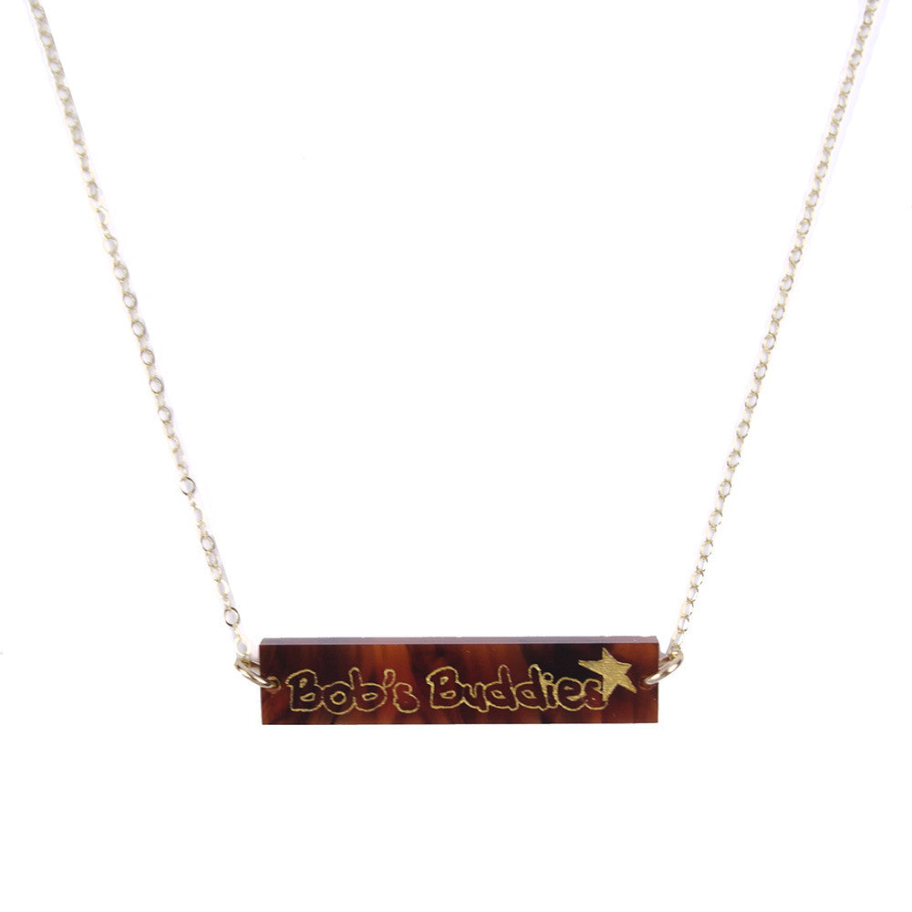 I found this at #moonandlola! - Bob's Buddies Bar Necklace Tortoise