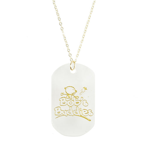 I found this at #moonandlola! - Bob's Buddies Dog Tag Necklace for Pediatric Brain Cancer Research