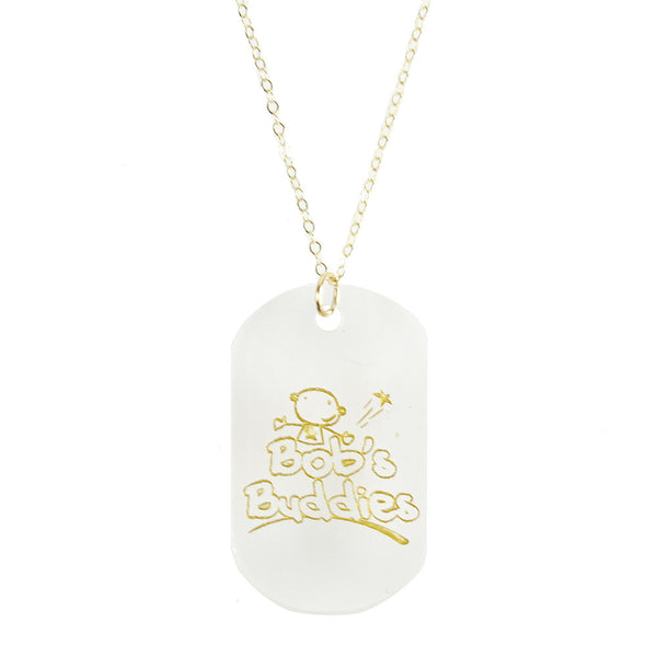 Moon and Lola - Bob's Buddies Dog Tag Necklace for Pediatric Brain Cancer Research