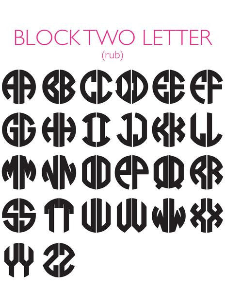 Moon and Lola - Block 2 Letter Font Sheet