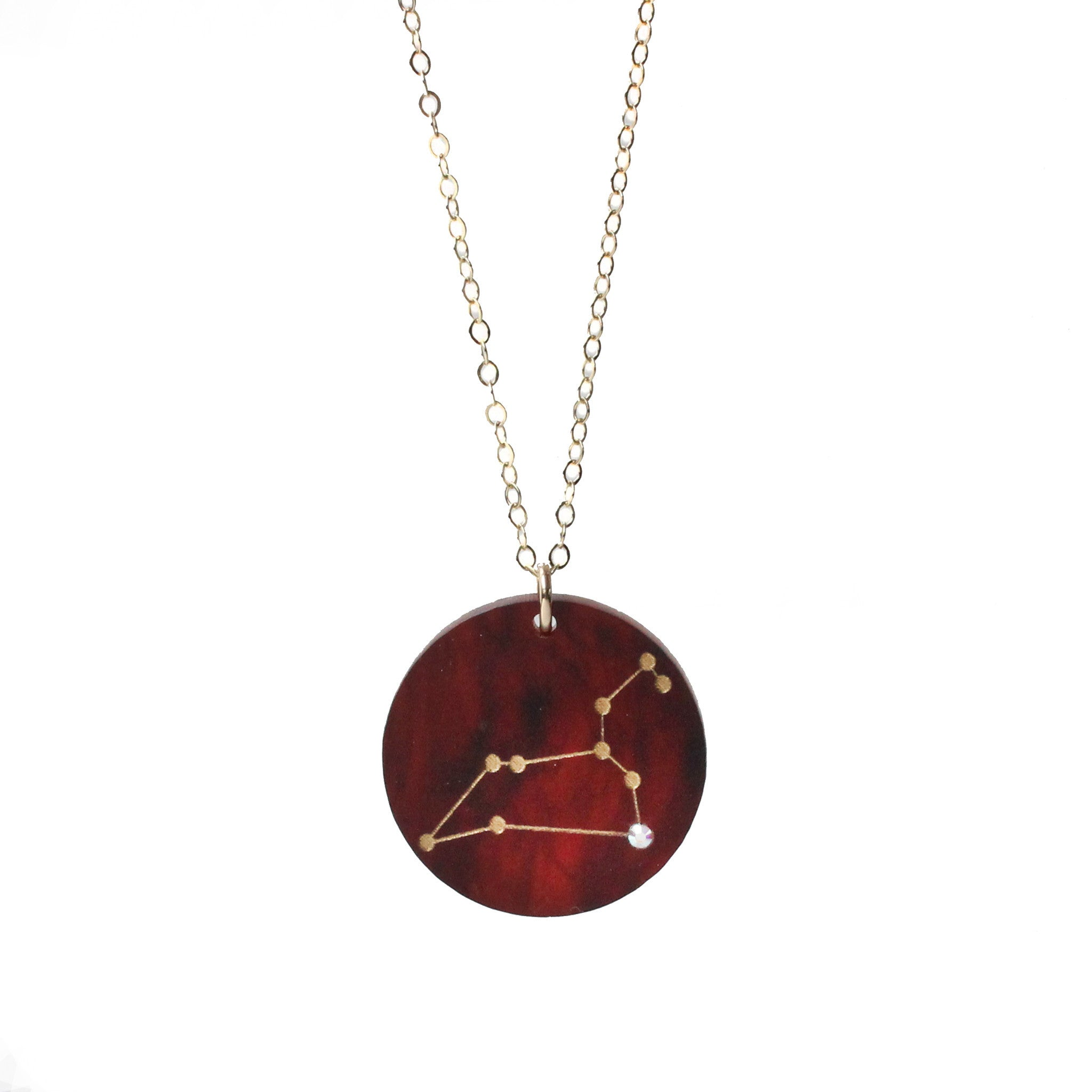 I found this at #moonandlola! - Acrylic Constellation Necklace Tortoise