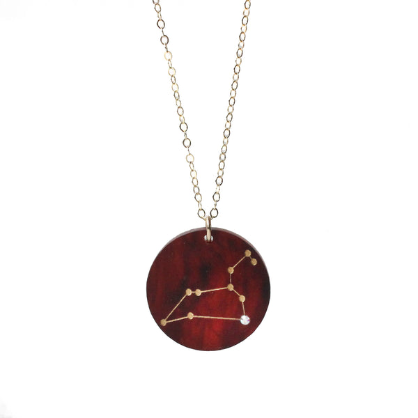 Moon and Lola - Acrylic Constellation Necklace Tortoise