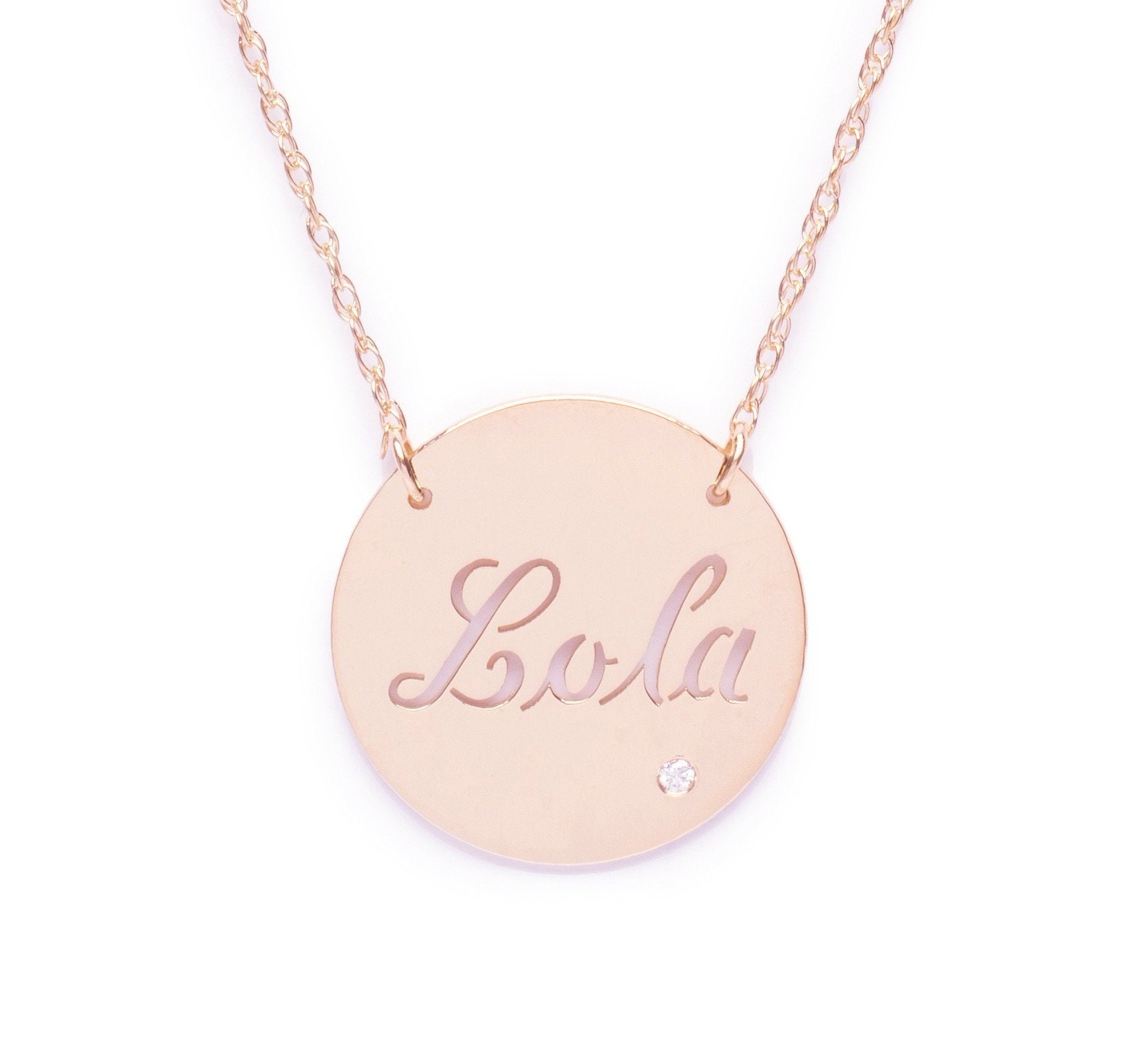 I found this at #moonandlola - Marbella Script Necklace