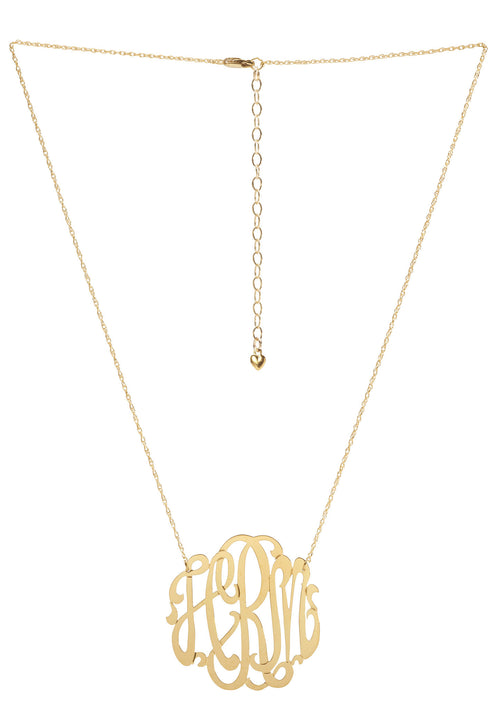 I found this at #moonandlola - Cheshire Script Monogram Necklace Gold