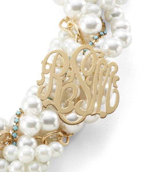 Moon and Lola - Southern Living Necklace Monogram Brooch