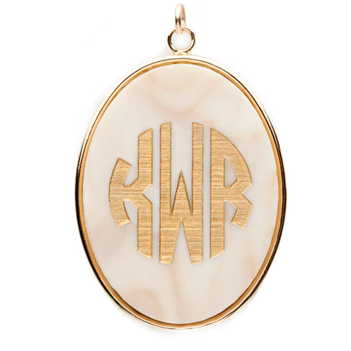 I found this at #moonandlola! - Vineyard Oval Monogram Pendant