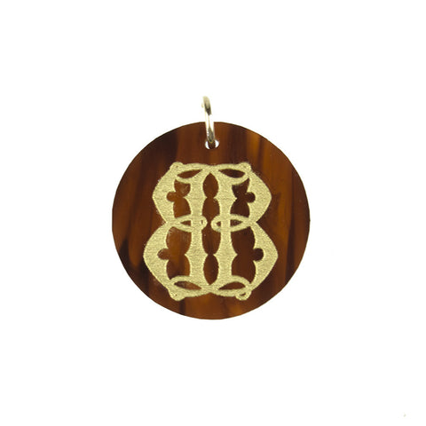 Old English Acrylic Single Letter Charm