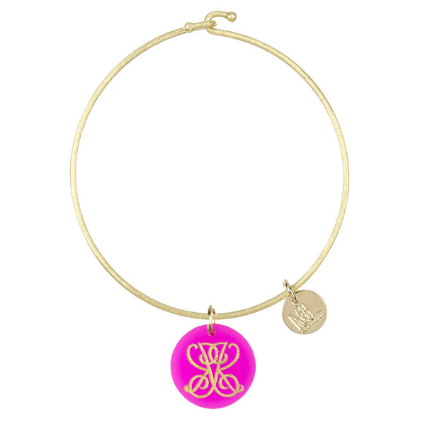 Moon and Lola xx Emily McCarthy Engraved Charm on Nora Bangle