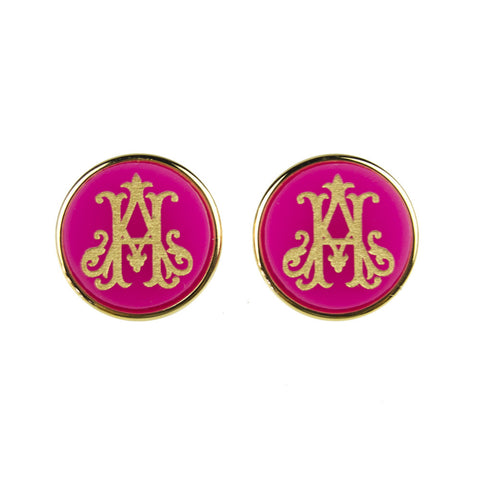 "Sample ""ACL"" Vannes Post Earring, Script"