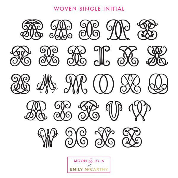 Moon and Lola xx Emily McCarthy Woven Single Letter Font