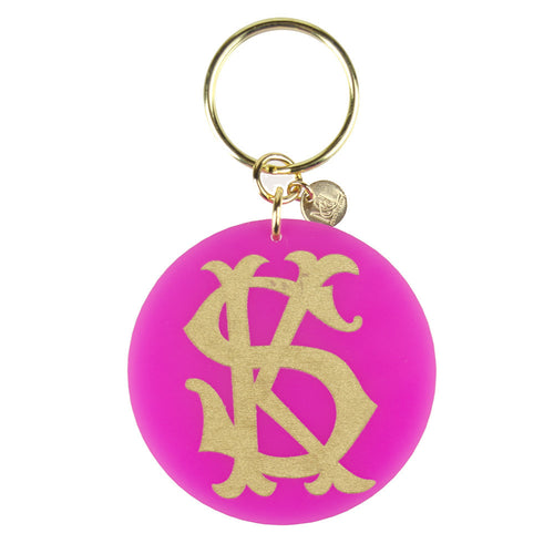 Moon and Lola xx Emily McCarthy Key Chain Interlocking Font