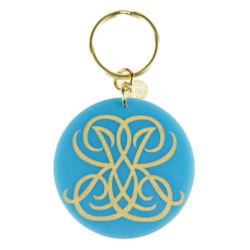 Moon and Lola xx Emily McCarthy Key Chain in Woven Font