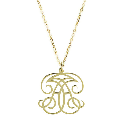 "Sample ""KPA"" Paris Monogram Necklace"