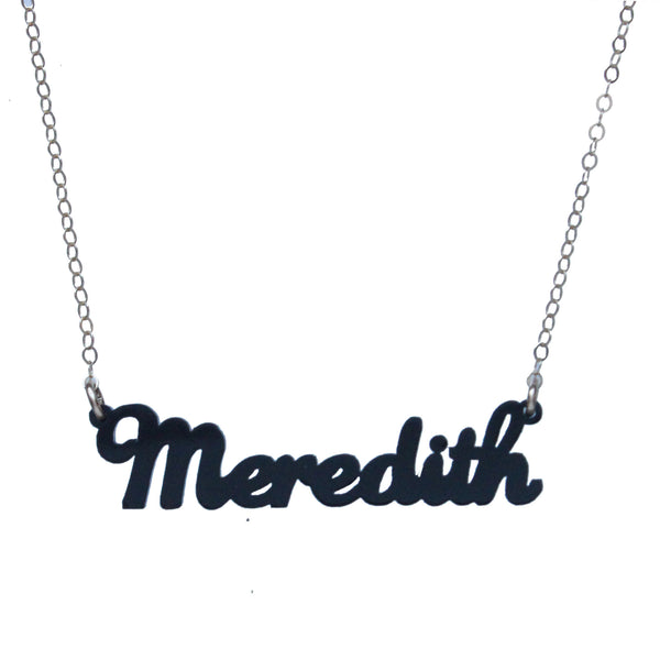 I found this at #moonandlola! - Acrylic Nameplate Necklaces M-N
