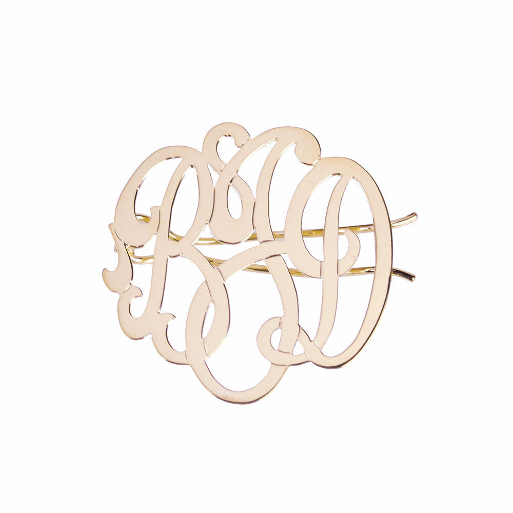 I found this at #moonandlola! - Cheshire Handcut Monogram Hair Clip