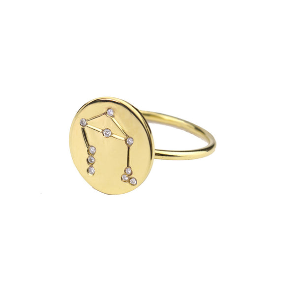 Moon and Lola - Metal Constellation Ring