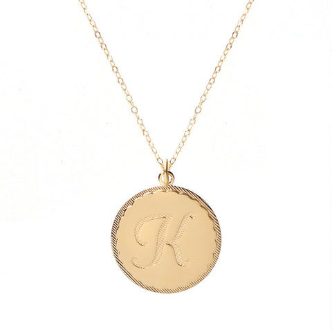 Sample Brass Bar Necklaces (first letter A-L)