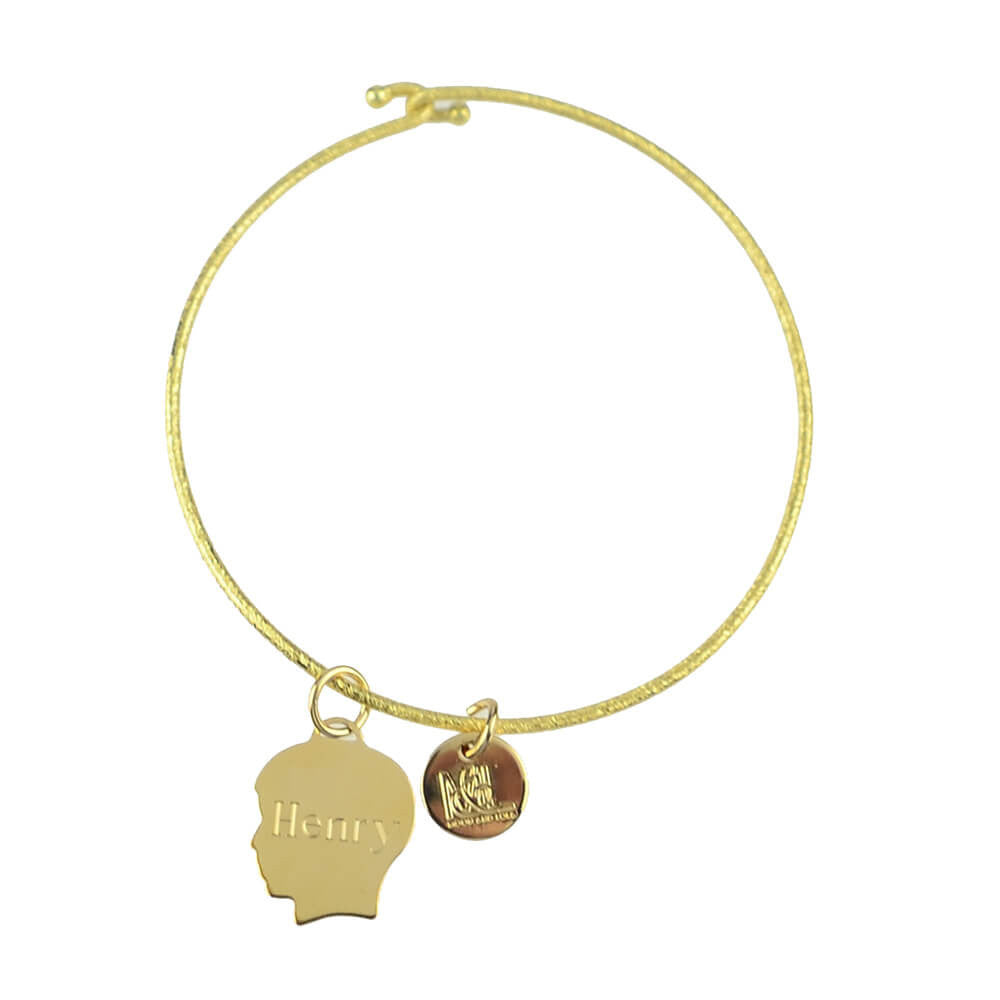 Moon and Lola - Metal Silhouette Charm on Nora Bangle