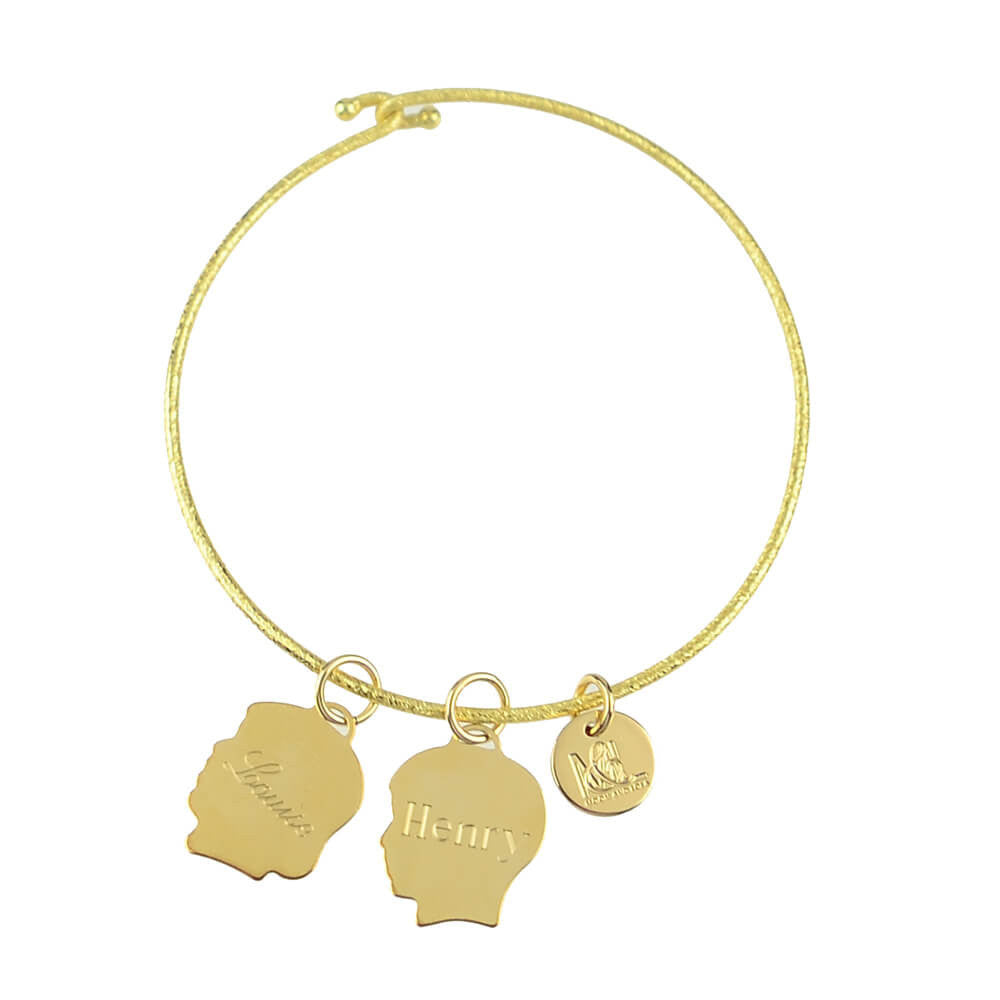 Moon and Lola - Metal Silhouette Charms on Nora Bangle