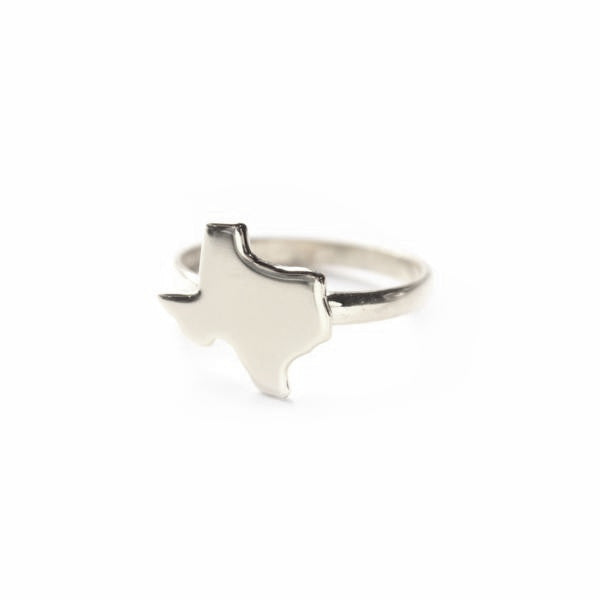 Sterling Silver Metal State Ring - #moonandlola