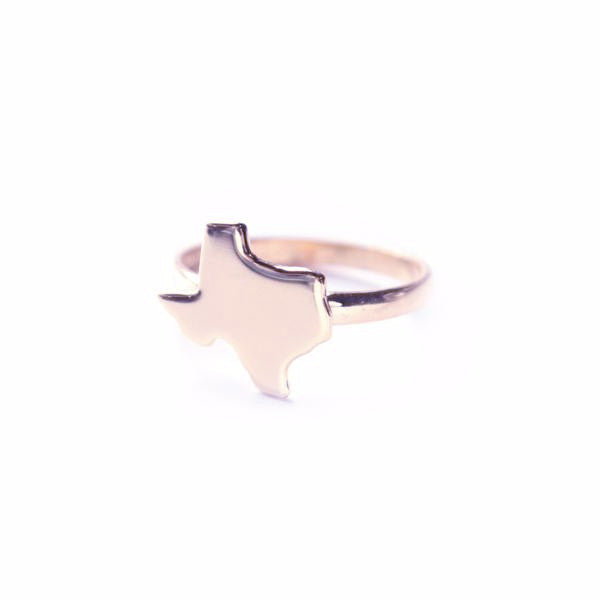 Rose Gold Metal State Ring - #moonandlola