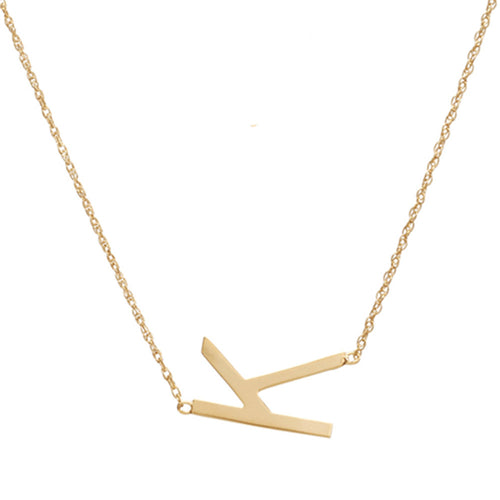 I found this at #moonandlola! - Metal Sideways Letter Necklace
