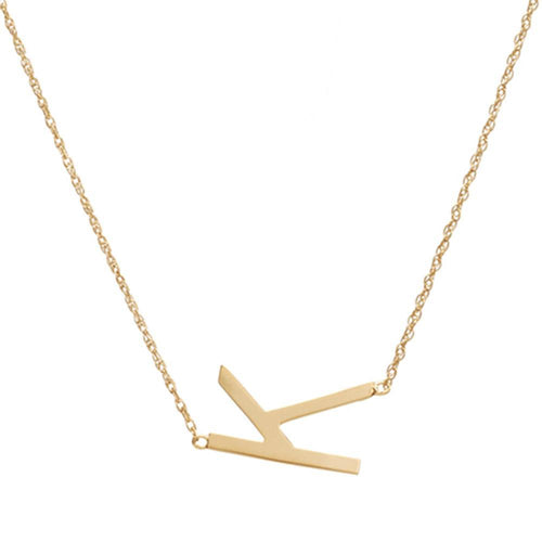 I found this at #moonandlola - Metal Sideways Letter Necklace